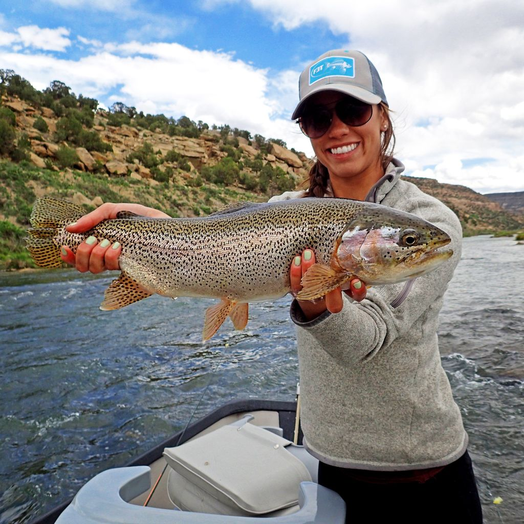 Lysa and Les on the San Juan River Tailwater - Duranglers