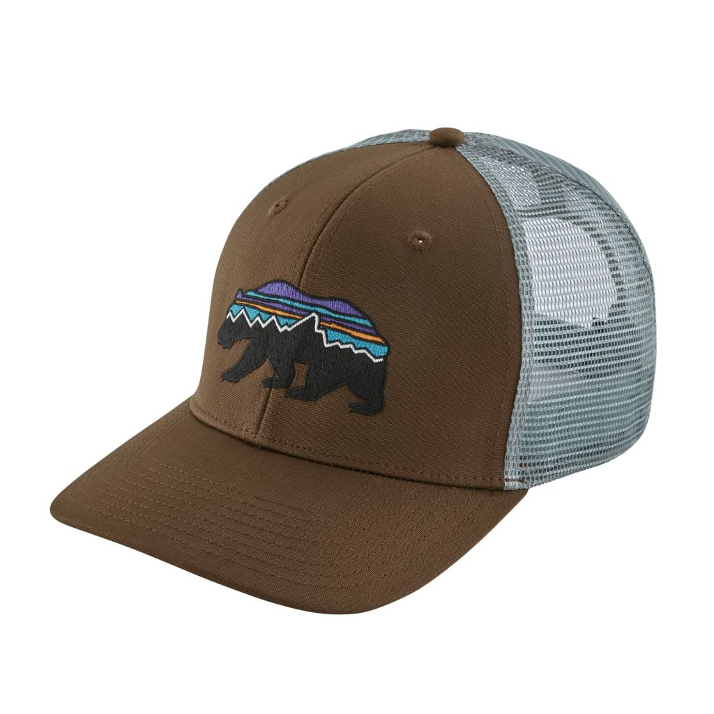 Patagonia Fitz Roy Bear Trucker Hat - Timber Brown - Duranglers Fly ... 3c6077172ad