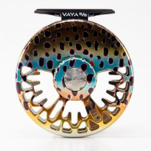 Abel vaya fly reel brown trout scheme drag side